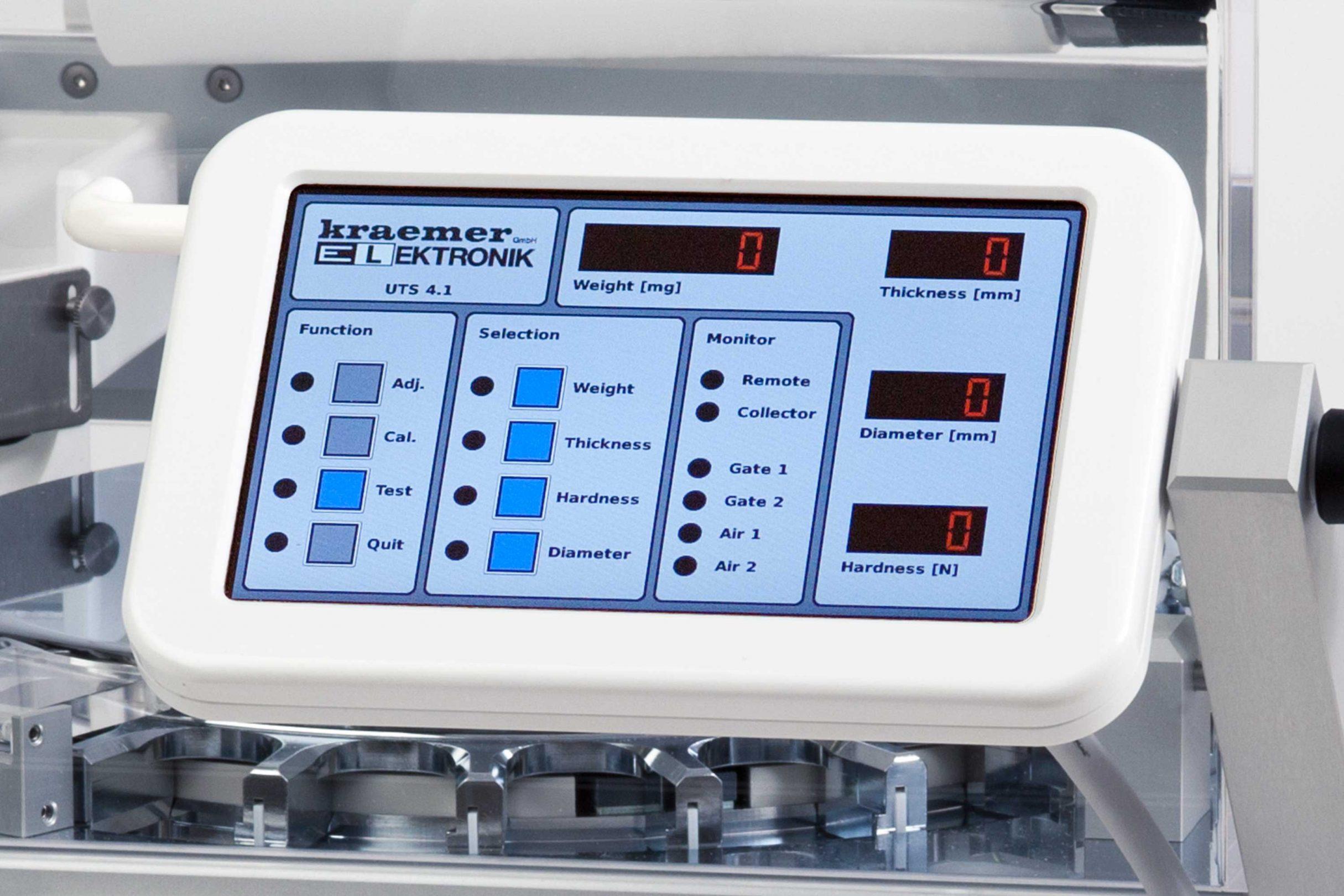 Touchscreen für Tablettenprüfsysteme, Kraemer Elektronik GmbH