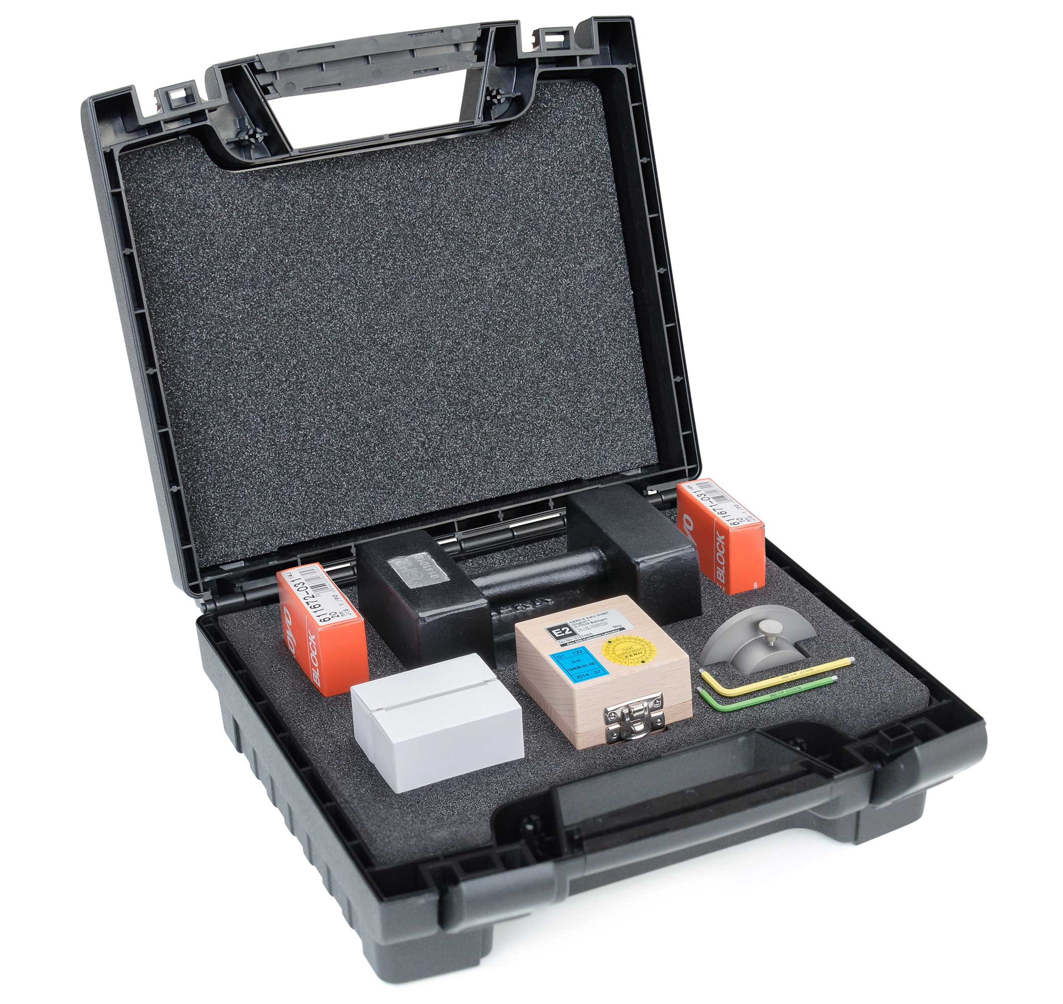 Kalibrierkoffer offen, Kraemer Elektronik GmbH, Tablettentestsysteme